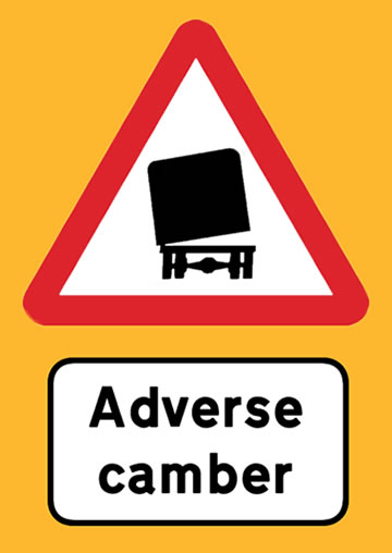 adverse-road-camber-sign